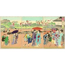 豊原周延: Customs and Manners of Edo 12 Months - July - Artelino