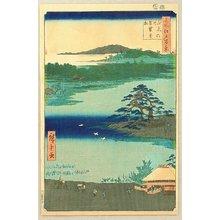 Utagawa Hiroshige: One Hundred Famous Views of Edo - Pine at Senzoku Pond - Artelino
