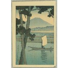 Kawase Hasui: Boat on Kiso River - Artelino