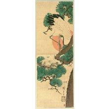 Utagawa Hiroshige: Crane, Pine, the Sunrise - Artelino