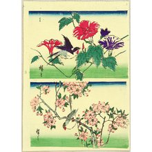 Utagawa Hiroshige III: Birds, Morning Glories and Cherry Blossoms - Artelino