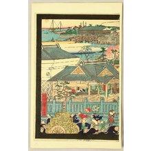 Kawanabe Kyosai: Namiyoke Shrine at Tsukiji - Artelino