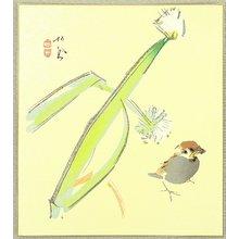 Takeuchi Seiho: Sparrow and Leek - Artelino