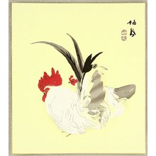 Takeuchi Seiho: Rooster and Hen - Artelino