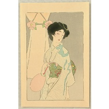 Hirezaki Eiho to Attributed: Beauty in Summer Kimono - Artelino