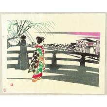 Inagaki Toshijiro: Maiko on a Bridge - Artelino