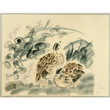 Kotozuka Eiichi: Quails and Bush Clover - Artelino