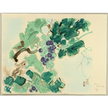 Kotozuka Eiichi: Squirrel and grapes - Artelino