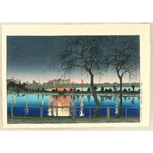 川瀬巴水: Sketches of Famous Places In Japan - Shinobazu Pond - Artelino