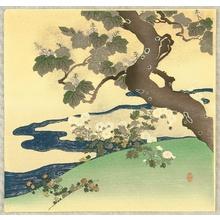 Tsukioka Kogyo: Tree Near a River - Artelino