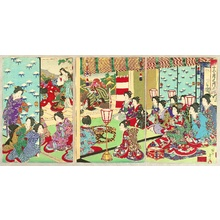 豊原周延: Customs and Manners of Edo 12 Months - December - Artelino
