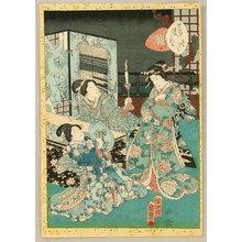 Utagawa Kunisada III: Cards of Tale of Genji - Miozukushi - Artelino