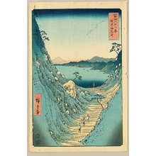 Utagawa Hiroshige: Thirty-six Views of Mt.Fuji - Shiojiri Pass - Artelino