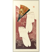 Kaneko Kunio: Folding Fan and Socks - 2 - Artelino