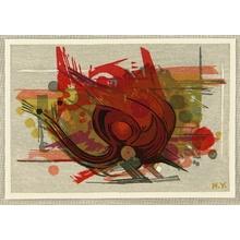 Yoshida Hodaka: Red Abstract - Artelino