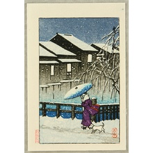 Kawase Hasui: In the Snow - Artelino