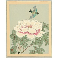 Ono Bakufu: Collection of Japanese Flowers and Birds - Colorful Bird and Peony - Artelino