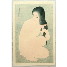 鳥居言人: Twelve Aspects of Woman - Combing in the Bath - Artelino