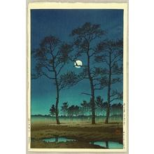 Kawase Hasui: Winter Moon over Toyama Plain - Artelino