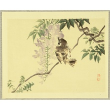 Kono Bairei: Sparrow and Wisteria - Artelino