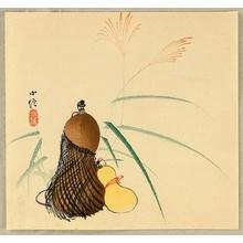 Hasegawa Konobu: Hyotan Guard and pampas Grass - Artelino