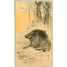 小原古邨: Wild Boar - Artelino