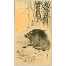 Ohara Koson: Wild Boar - Artelino