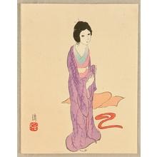Asai Kiyoshi: Purple Kimono - Artelino