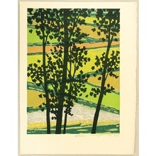 Kitaoka Fumio: Field in Young Green - B - Artelino