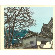 橋本興家: Hikone Castle in Early Spring - Artelino