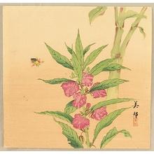 Takahashi Biho: Bee and Hollyhock - Artelino