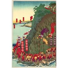 Kojima Shogetsu: Shogun views his Troop - Artelino