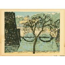 Onchi Koshiro: Recollections of Tokyo - Niju Bridge - Artelino