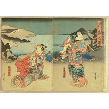 Utagawa Yoshitoyo: Kabuki - Romance - Artelino