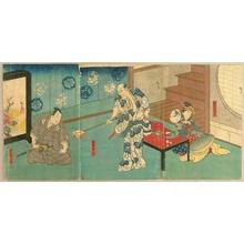 Utagawa Hirosada: Kabuki - Shamisen - Artelino