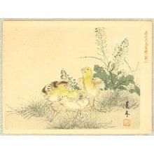 今尾景年: Keinen Kacho Gakan Juni Zu - Three Chicks - Artelino
