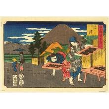 三代目歌川広重: Fifty Three Stations of Tokaido - Numazu - Artelino