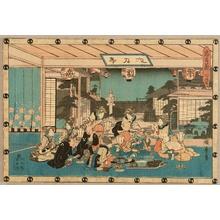 歌川広重: Chushingura - Act.7, Tea House - Artelino