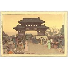 吉田博: Market in Mukuden - Artelino