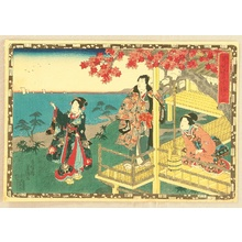 Utagawa Kunisada: The Tale of Genji - Chapter 12 - Artelino