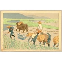藤島武二: Rice Transplantation - Artelino