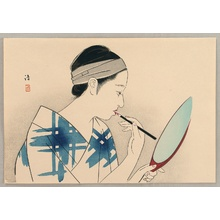 Asai Kiyoshi: Applying Make-Up - Artelino