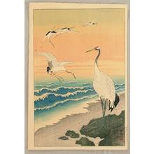 Ohara Koson: Cranes on Seashore - Artelino