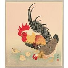 小原古邨: Chicken Family - Artelino
