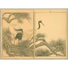 Imao Keinen: Keinen Gafu - Cranes and Pine Tree - Artelino