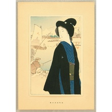 鏑木清方: Portfolio of Beauties - Riverside at Hamamatsu in Autumn - Artelino