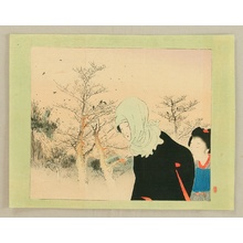 月岡耕漁: Walking near the Barren Woods - Artelino