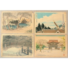 徳力富吉郎: Famous, Sacred and Historical Places - 4 Trial Prints - Artelino
