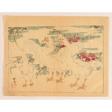 河鍋暁斎: Ducks - Kyosai Rakuga - Artelino