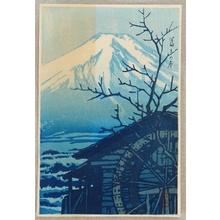川瀬巴水: Mt. Fuji in Winter - Artelino